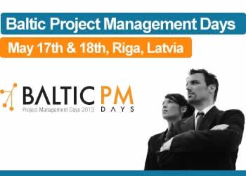 Pirmās Baltijas Projektu vadīšanas dienas pulcē ap 150 speciālistu no 10 valstīm