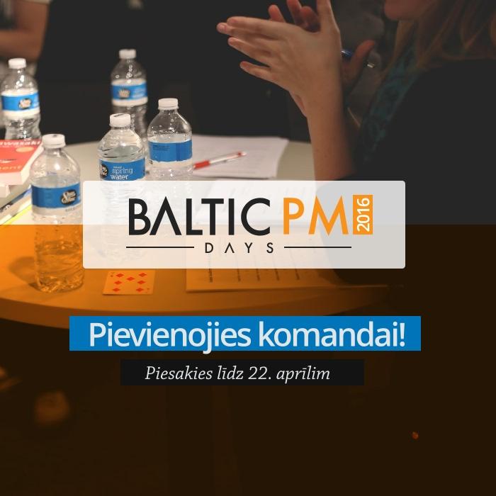 Piesakies uz Baltic PM Days 2016 vakancēm