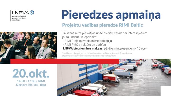 Pieredzes apmaiņas pasākums RIMI Baltic, 20.oktobrī