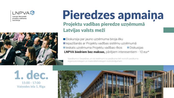 Projektu vadības pieredzes apmaiņa uzņēmumā Latvijas valsts meži